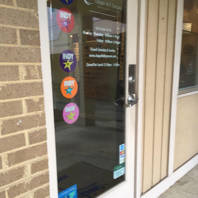 Chapel Hill Eyecare front door
