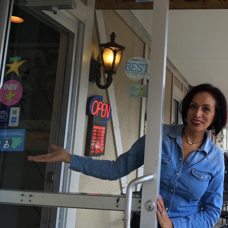 Employee in front of Monterreys front door