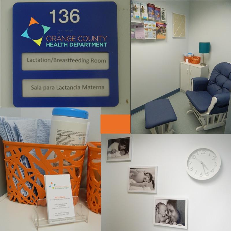 Orange County Health Department lactation room