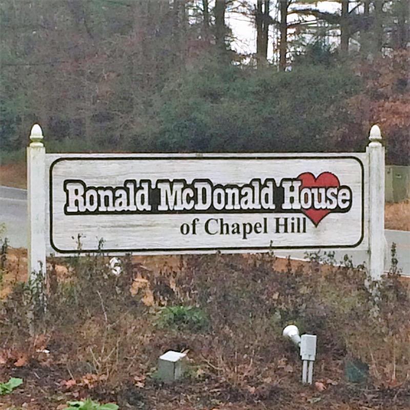 Ronald McDonald House sign near the road