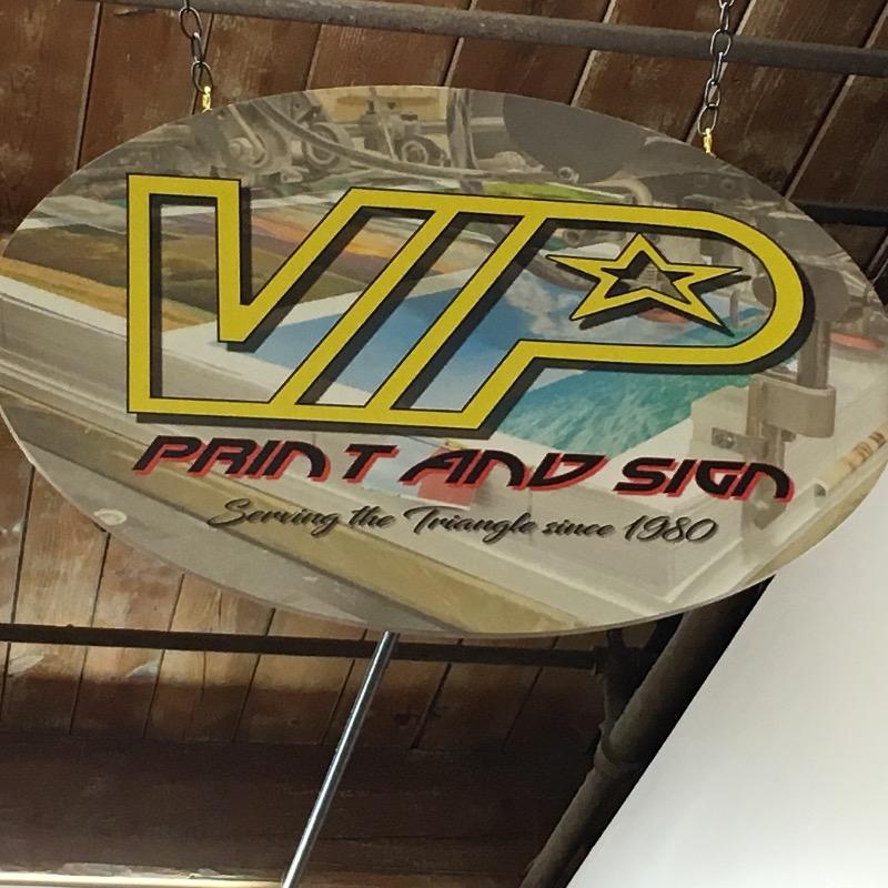 VIP Printing company sign