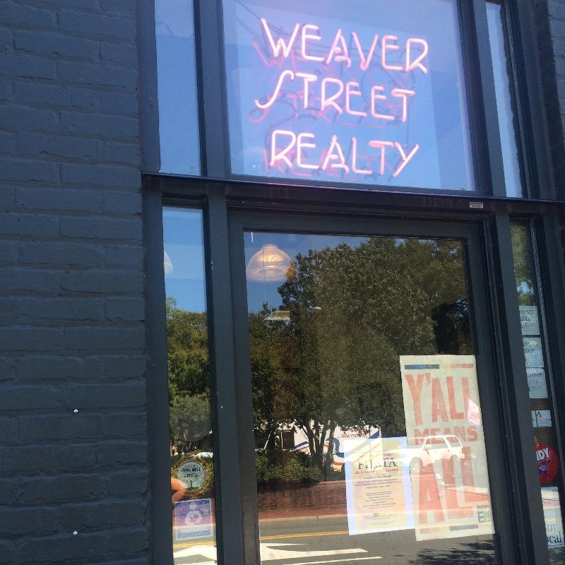 Weaver Street Realty front door